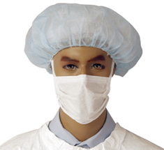 "Cleanroom M3 7"" Soft Ties Face Masks"