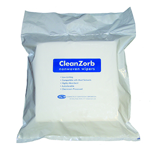 CT Cleanroom's CleanZorb Nonwoven Wipers