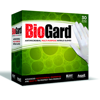 Cleanroom BioGard Antimicrobial Nitrile Gloves