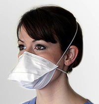 Cleanroom  N95 Particulate Filter Respirator & Surgical Mask