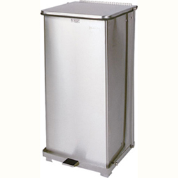 Cleanroom Defender Step Can Stainless Steel Square Waste Receptacle